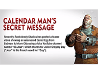 Batman: Arkham City — Calendar Man's Secret Message