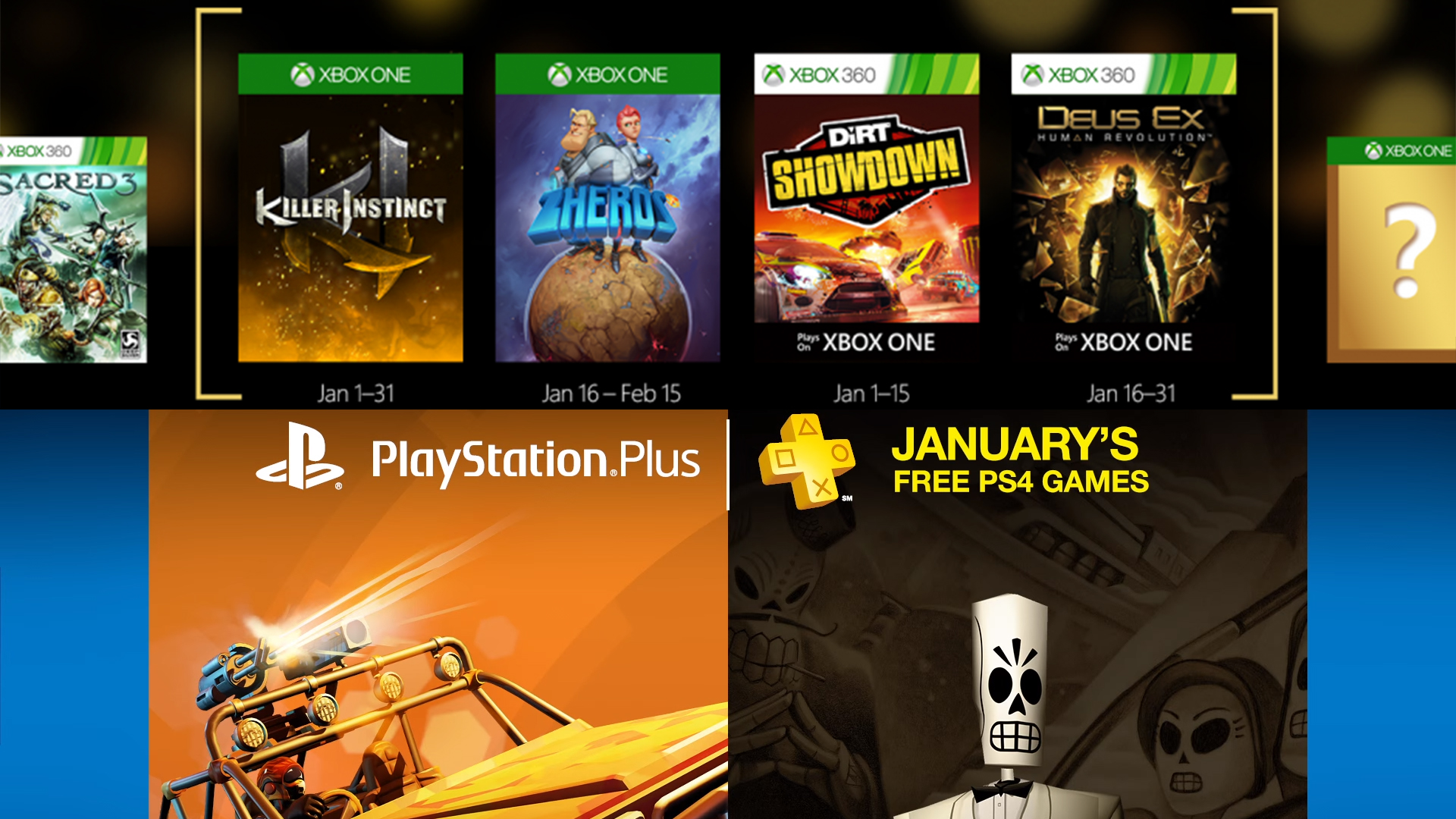 free games xbox one january 2016