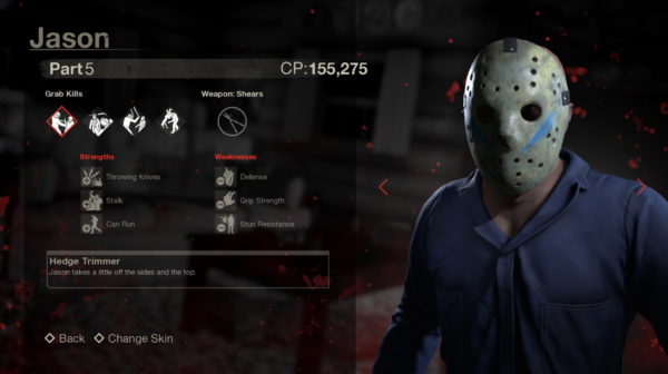 Friday The 13th: The Game — Jason V's Stats