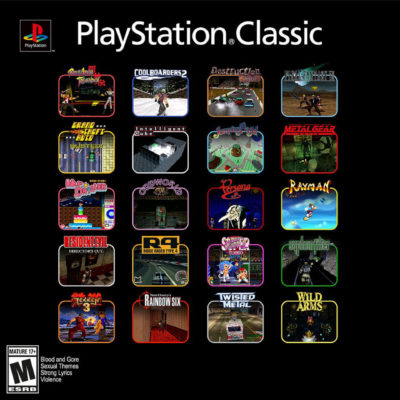 The List Of Titles For The PlayStation Classic Have Been Confirmed