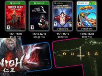 Free PlayStation & Xbox Video Games Coming November 2019